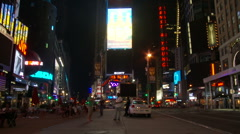 NYC Times Square Time Lapse - New Clip 3 Stock Footage