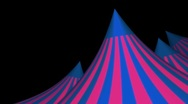 Stock Video Footage of Blue and Pink Circus Tent