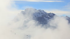 Cloudscape Mountains and Alpine Peaks, Italian Dolomites, Italy Stock Footage