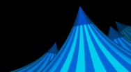 Stock Video Footage of Blue Circus Tent Rotating with Alpha