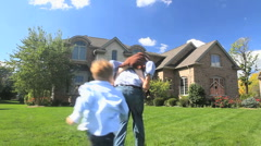 Family and House 4 Stock Footage