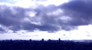 Moving Storm Clouds Over Urban Landscape 1 Stock Footage