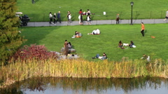 Central Park Pond 5 HD Stock Footage