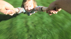 Spinning Girl Stock Footage