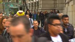 People, crowds walking, #2, Calgary, Alberta Stock Footage