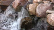 Water on the Rocks Stock Footage