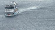 Cruise Ship Turning Stock Footage