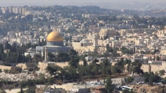 The holy city, new Jerusalem, coming down from out of heaven Stock Footage