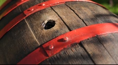 wood barrel hole - stock footage