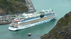 Cruise Ship Entering Through The Narrows At St Johns Newfoundland Canada - stock footage