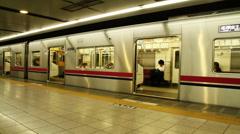 Shinjuku Metro (TimeLapse) - stock footage