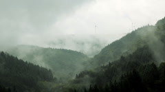 Wind Turbines, nr Trier Germany Stock Footage