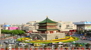 Stock Video Footage of Bell Tower in Xi'an, China