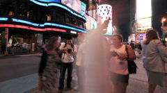 NYC Times Square Time Lapse - New Clip 9 Stock Footage