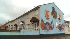 Belfast mural Stock Footage