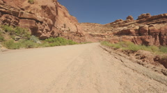 Driving in Navajo Nation Desert- Time Lapse - Clip 1 Stock Footage