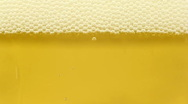 Golden beer closeup Stock Footage