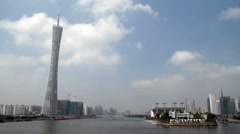 Guangzhou Skyline - stock footage