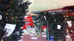 Christmas Tree in Mall Stock Footage