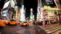 NYC Times Square Time Lapse - New Clip 7 Stock Footage
