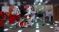 Heavyset Christmas Shoppers in mall HD Footage