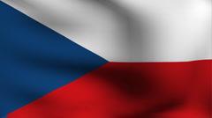 Flag of czech Stock Footage