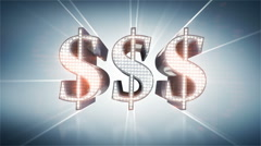 Diamond dollars Stock Footage