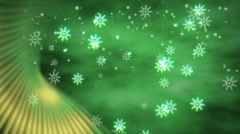 Snowflakes with Green Accent Stock Footage