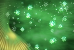 Snowflakes with Green Accent - stock footage