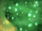 Stock Video Footage of Snowflakes with Green Accent