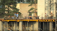 HD Builders in the construction site Stock Footage