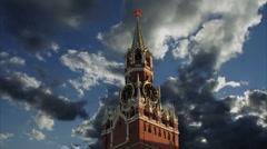 "Kremlin ""Spasskaya"" Tower 1 Stock Footage"