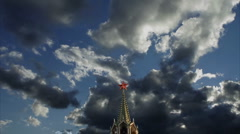"Kremlin ""Spasskaya"" Tower  2 Stock Footage"