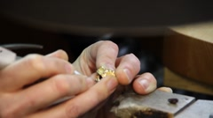 jeweler designer hands - stock footage