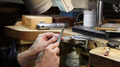 jeweler ,craftsman, hands - stock footage