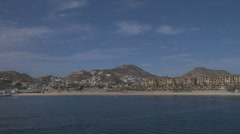 Cabo San Lucas time lapse from the ocean 2 Stock Footage