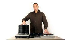 Dj record grow music party vinyl audio disco Stock Footage