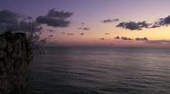 Sunset on the sea horizon Stock Footage