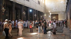 Church of the Nativity in Bethlehem, Israel Stock Footage