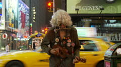 Times Square Street Performer Stock Footage