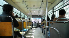 Inside a bus of china - stock footage