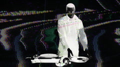 dj vinyl music disco club turntables - stock footage