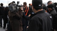 San Francisco Giants Fans Interview Stock Footage