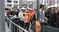 SF Giants Fans Line HD Footage