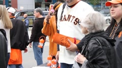 San Francisco Giants Concessions Stock Footage