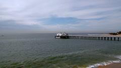 Malibu Pier 01 - wide Stock Footage