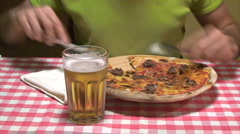 Pizza - stock footage