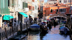 Gondolas on the Canals of Venice, Italy - stock footage