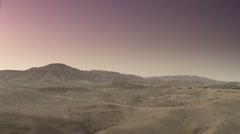 Desert dawn pan 1 - stock footage
