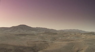 Desert dawn pan 1 Stock Footage